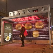 Hamburger Grill Bushaltestelle