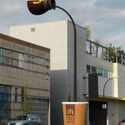 Plastische Kaffee Werbung