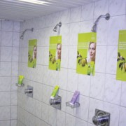 Shampoowerbung Dusche