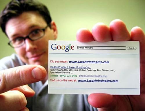 Die dein Google Eintrag Visitenkarte