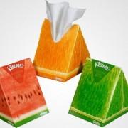 Kleenex Verpackung mit Duftangabe