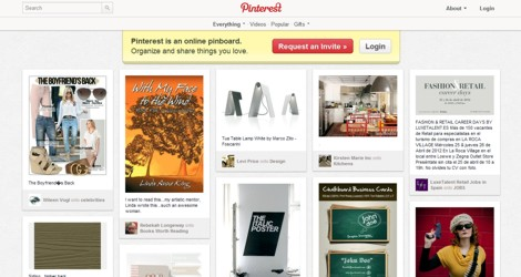 Pinterest - digitales Pinboard (Screenshot)