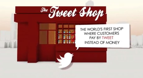 Kellogs Tweet Shop in London (screenshot Youtube)