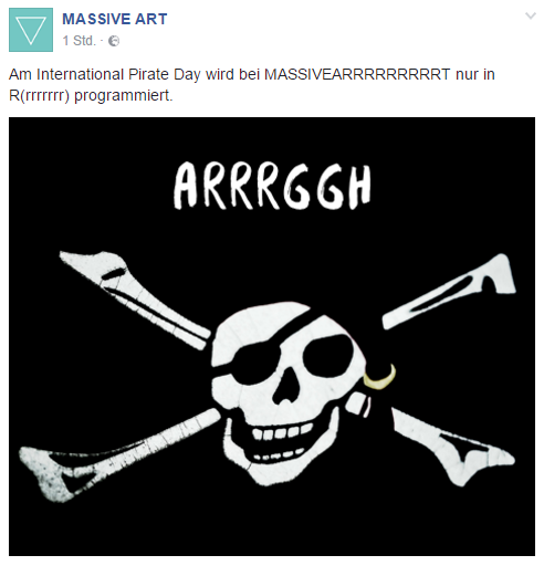 Facebook Massive Art International Pirates Day