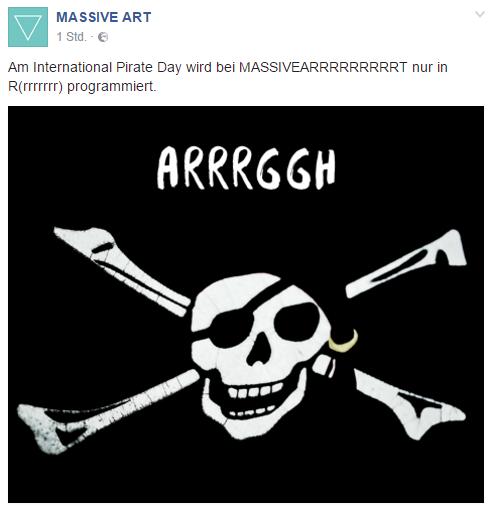 Facebook Massive Art International Pirates Day