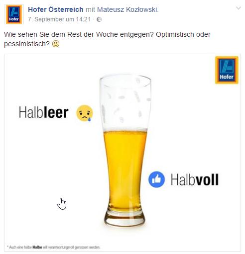 Facebook Hofer Umfrage